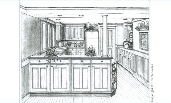 Simple Kitchen Drawing simple kitchen drawing softwarebwcabsjpg c intended design ideas